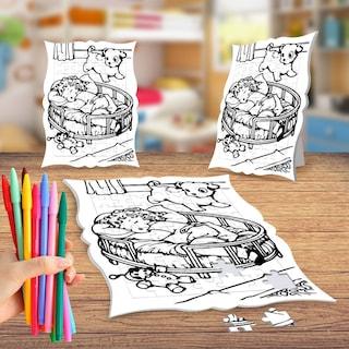 Uyuyan Küçük Kız Boyama Puzzle Tablo çocuk Eğitici Yapboz N11com