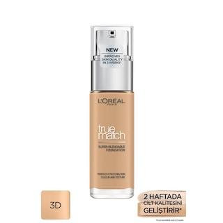 L'Oréal Paris True Match Bakım Yapan Fondöten 3D GOLDEN BEIGE