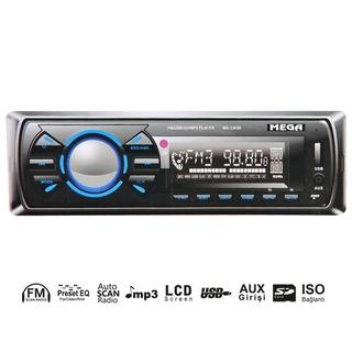 OTO TEYP USB/SD/UK/ESP/FM 4X50W ÇIKMA KAFA MEGA MG-3363D