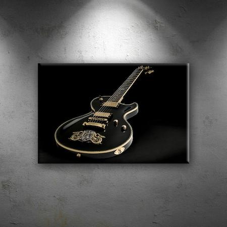 Elektro Gitar Yağlı Boya Sanat Dekoratif Canvas Tablo N11com