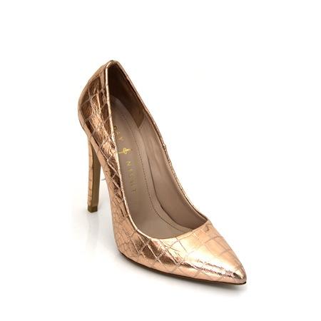 Stiletto Bakır Rengi Rugan Hakiki Deri Bayan Ayakkabı N11com