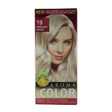 Aroma Color Saç Boyası 19 Platin Sarı N11com