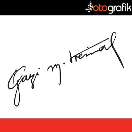 Otografik Gazi Mustafa Kemal Imza Oto Sticker N11com