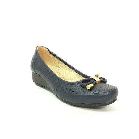 Lovenna 107 Lacivert Dolgu Topuk Kadın Ayakkabı