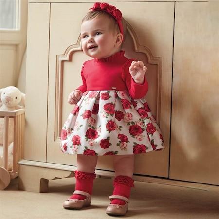 Mayoral Kislik Kiz Bebek Kombin Elbise Cicekli Fiyatlari Ve