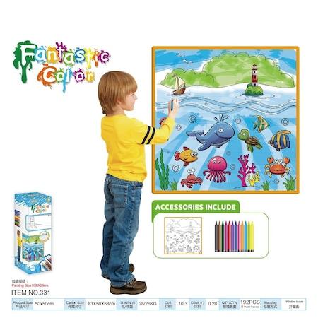 Eğitici Boyama Halısı Boya Yıka Tekrar Boya Oyunu 5 Farklı Model