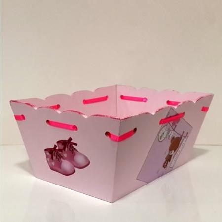 Ahşap El Boyaması Bebek şekeri Sepeti Ayıcık Modeli N11com