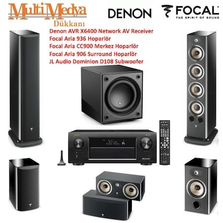 Denon AVR X6400-Focal Aria 936/CC900/906/JL108D Sinema Sistemi
