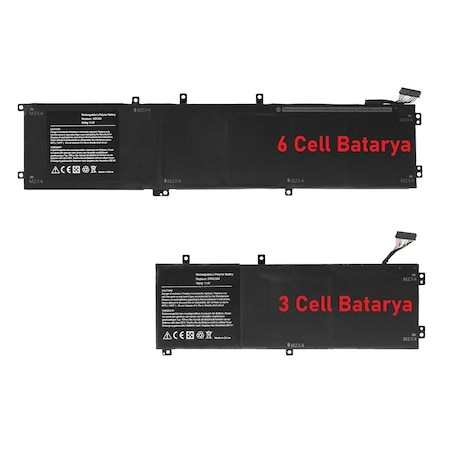 Dell 6GTPY, 06GTPY Batarya Pil RETRO 6Cell 84Wh