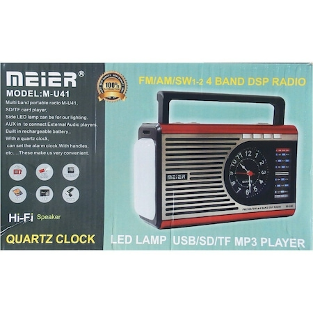 sarjli radyo saatli el fenerli fm radyo meier u41 usb sd kart