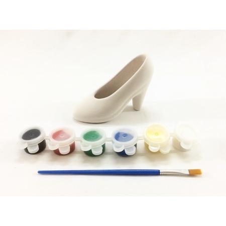 Joy And Toys Seramik Biblo Boyama Seti Topuklu Ayakkabi 8x12 Cm