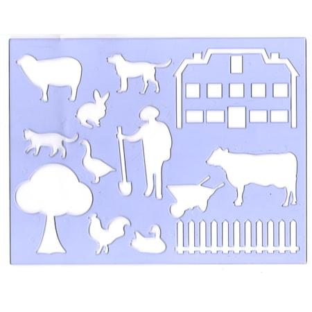Ark Sekil Boyama Sablonu Ciftlik Ve Hayvanlari N11 Com