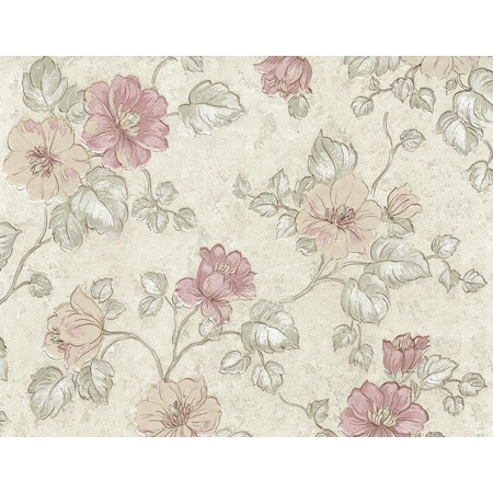 Doğayla İç İçe Çiçek Desenli Duvar Kağıtları
