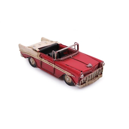 Dekoratif Metal Araba üstü Açık Kırmızı 4562 N11com