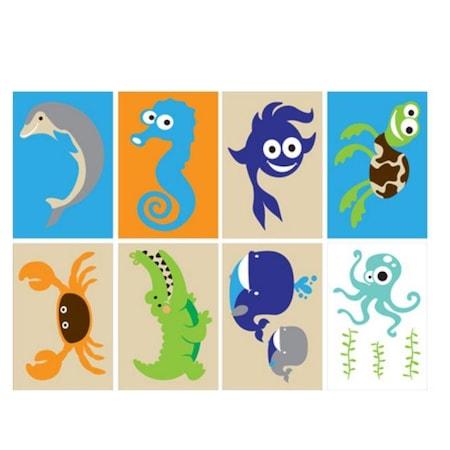 Deniz Hayvanları çocuk Tuz Boyama Seti N11com