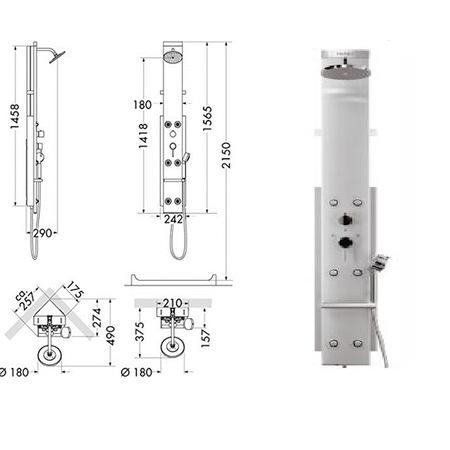 Hansgrohe - Axor 26871000 Pharo Shower Panel Lift 2 - n11.com