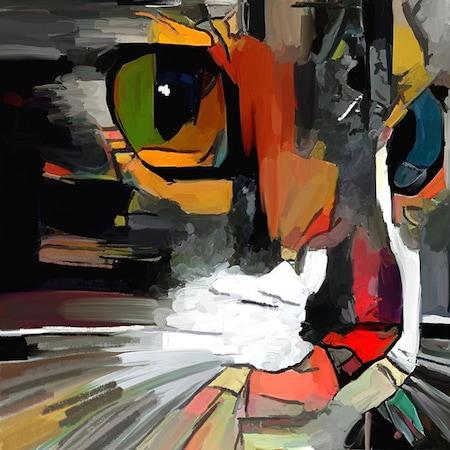 Renkli Sevimli Kedi Yuzu Boya Desenli Dusperdesi N11 Com