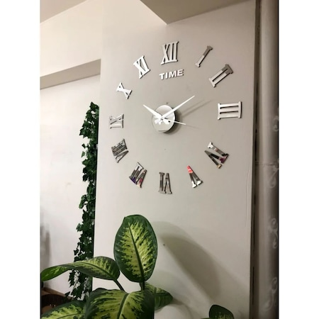 Buyuk Duvar Saati Dekoratif 3d Romen Rakamli Model Metal Gobek Fiyatlari Ve Ozellikleri