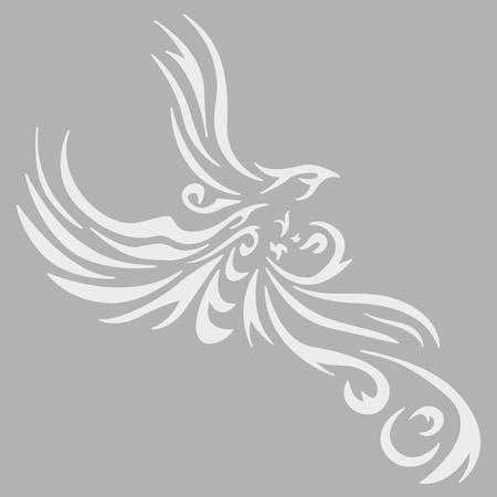 Melek Kanadı 1 Stencil Tasarımı 30x30 Cmboyama şablonu N11com