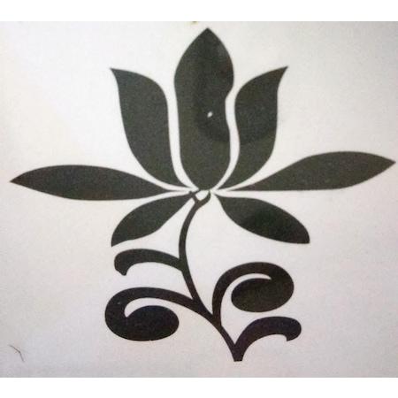 Pro Sedef Boya Efekt Baskı Tamponu çiçek Desenli W085t N11com