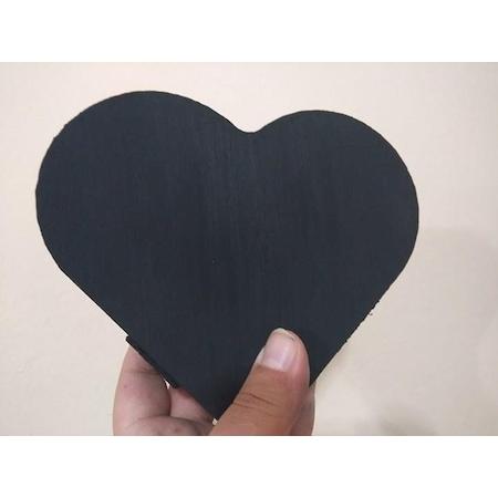 El Yapimi Ahsap Kalp Kutu Siyah Boyama Buyuk Boy N11 Com