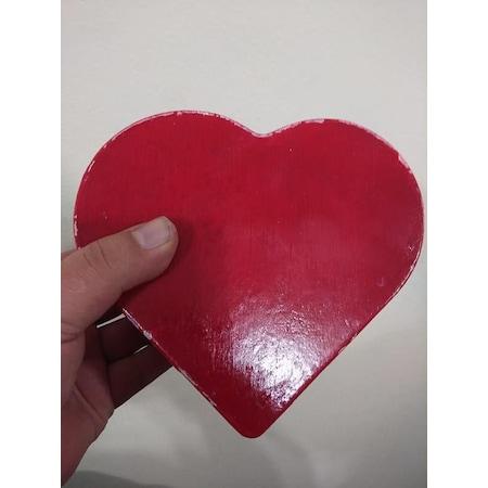 Nostaljik Ahşap Eskitme Boyama Büyük Boy Kalp Kutu N11com