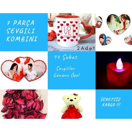 3be189a517fcb Sevgililer Gününe Özel Sevgiliye Hediye Kombin 7 Parça - n11.com