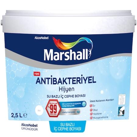 Marshall Antibakteriyel Hijyen Ic Cephe Duvar Boyasi 2 5 L 3 5 Kg