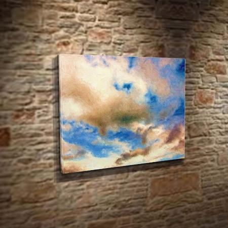 Bulutlar Ve Gökyüzü Mavi Doğa Boyama Sanatı Ressam Doğa