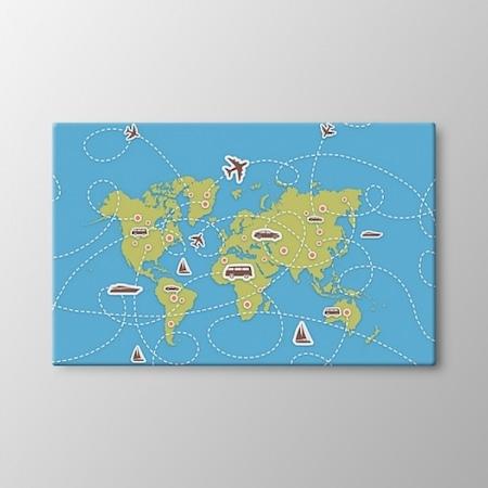 Dünya Harita Tablo Dekorasyon Aydınlatma Modelleri Fiyatları
