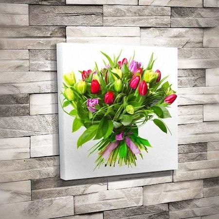 Güzel Laleler Demet Buket çiçek Yeşil Yapraklar Doğa T