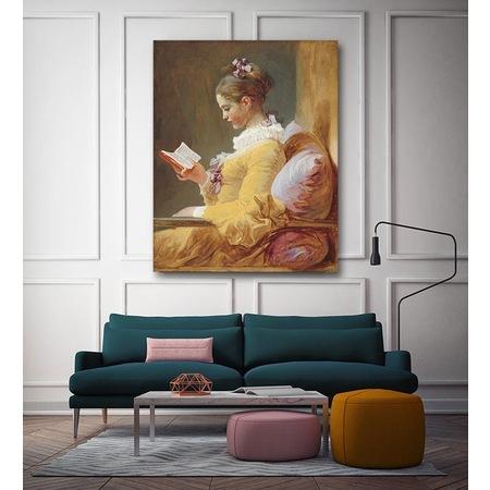 Kitap Okuyan Genç Kız Jean Fragonard Yağlı Boya Kanvas Tablo N11com