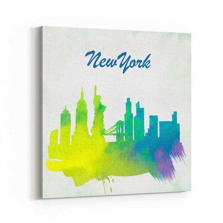 New York Sulu Boya çizim Kanvas Tablo N11com