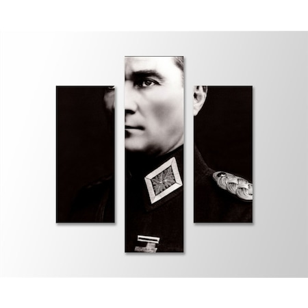 Siyah Beyaz Atatürk Portre Kanvas Tablo N11com