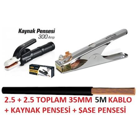 Kaynak Kablosu Takımı 5 Metre Hes Nyaf Kablo 35 Mm Siyah