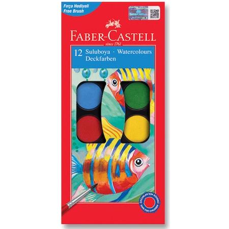 Faber Castel 12li Pastel Kuru Sulu Boya Seti N11com