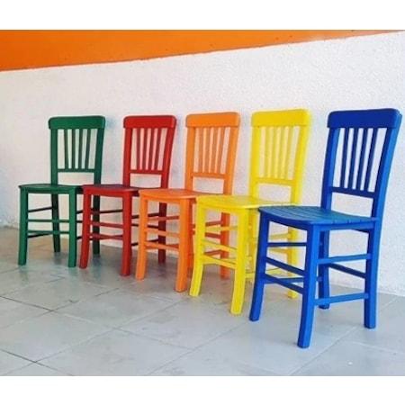 Ahşap Tahta Sandalye Renkli Veya Doğal Ahşap N11com