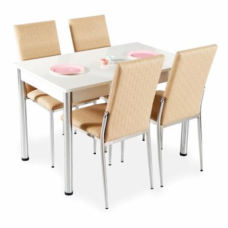 Neşeli Mutfaklar İçin Renkli Masa Sandalye Takımları