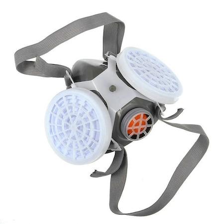 Toz Boyacı Maskesi Koruyucu 2 çift Filtreli Iş Güvenliği Gaz N11com