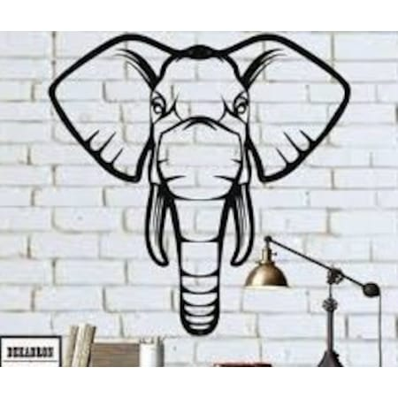 Fil Kafasi Metal Tablo Ev Dekorasyon Lazer Kesim Ideal Tasarim