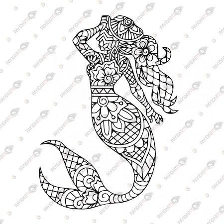 Mandala Deniz Kizi Dekoratif Lazer Kesim Metal Tablo 60x84 N11 Com