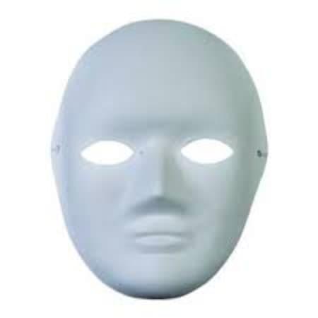 10 Adet Mukavva Karton Maske Yüz Maskesi Beyaz Boyama Maskesi N11com