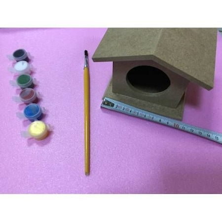Ahşap Kuş Yuvası Boyama Eğitim Seti N11com