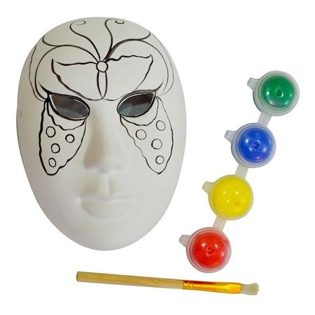 Bubu Seramik Maske Boyama Seti Kelebek Desenli N11 Com