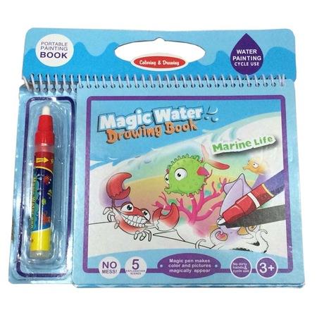 Erkek Kız çocuk Sihirli Kalem Boyama Kitabı Su Ile Boyama Yapılır