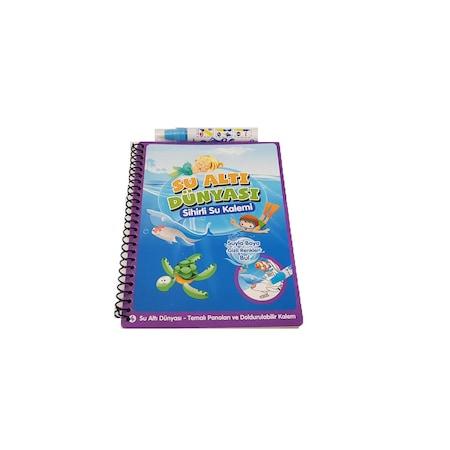 Sihirli Boyama Kitabı özel Kalemi Water Magic Boyama Deniz Hayatı