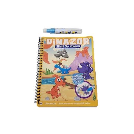 Sihirli Boyama Kitabı özel Kalemi Water Magic Boyama Dinazor N11com