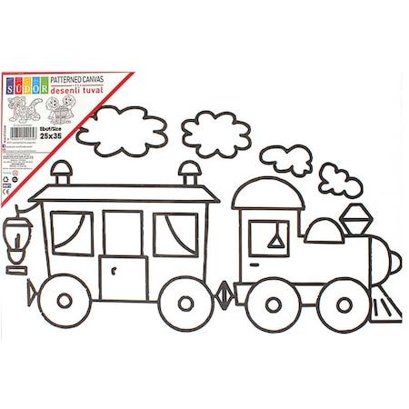Sudor Desenli Tuval Lokomotif Tren N11 Com