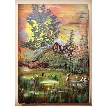 El Boyama Doğa Manzaralı Yağlı Boya Tablo N11com