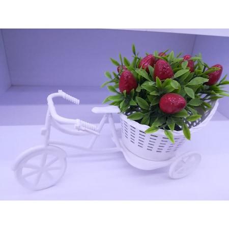 Bisiklet çiçek Dekoryapay çiçek Hediyelik şık ürün N11com